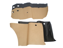 Door panel watershields